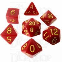 Role 4 Initiative Opaque Red & Gold 7 Dice Polyset