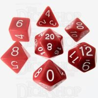 Role 4 Initiative Opaque Red & White 7 Dice Polyset