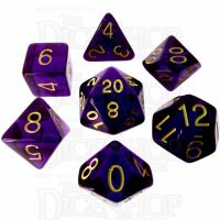 Role 4 Initiative Translucent Purple & Gold 7 Dice Polyset