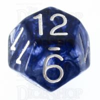 Role 4 Initiative Diffusion Blue Ink & White D12 Dice
