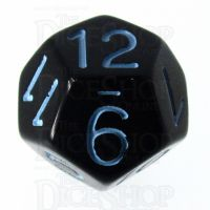 Role 4 Initiative Opaque Black & Blue D12 Dice