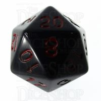 Role 4 Initiative Opaque Black & Red D20 Dice