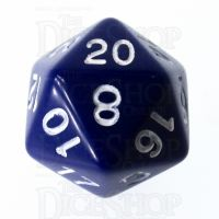 Role 4 Initiative Opaque Blue & White D20 Dice