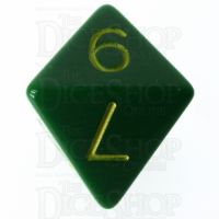 Role 4 Initiative Opaque Green & Gold D8 Dice