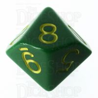 Role 4 Initiative Opaque Green & Gold D10 Dice