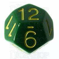 Role 4 Initiative Opaque Green & Gold D12 Dice