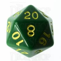 Role 4 Initiative Opaque Green & Gold D20 Dice