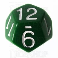 Role 4 Initiative Opaque Green & White D12 Dice