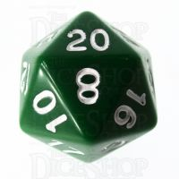 Role 4 Initiative Opaque Green & White D20 Dice