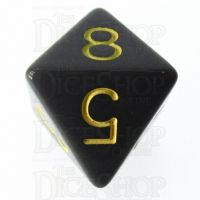 Role 4 Initiative Opaque Grey & Gold D8 Dice