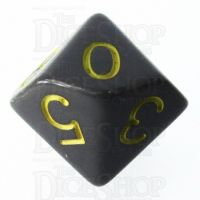 Role 4 Initiative Opaque Grey & Gold D10 Dice