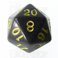 Role 4 Initiative Opaque Grey & Gold D20 Dice
