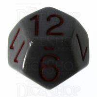 Role 4 Initiative Opaque Grey & Red D12 Dice
