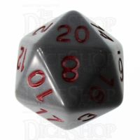 Role 4 Initiative Opaque Grey & Red D20 Dice