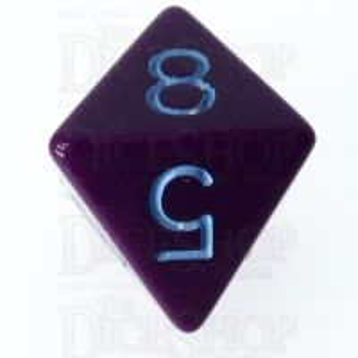 Role 4 Initiative Opaque Purple & Blue D8 Dice