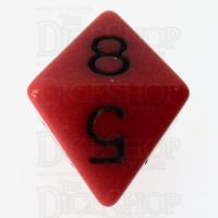 Role 4 Initiative Opaque Red & Black D8 Dice