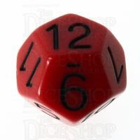 Role 4 Initiative Opaque Red & Black D12 Dice