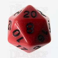 Role 4 Initiative Opaque Red & Black D20 Dice