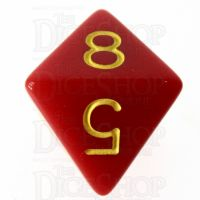 Role 4 Initiative Opaque Red & Gold D8 Dice