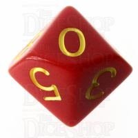 Role 4 Initiative Opaque Red & Gold D10 Dice