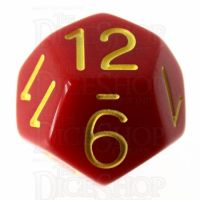 Role 4 Initiative Opaque Red & Gold D12 Dice