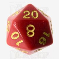 Role 4 Initiative Opaque Red & Gold D20 Dice
