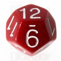 Role 4 Initiative Opaque Red & White D12 Dice