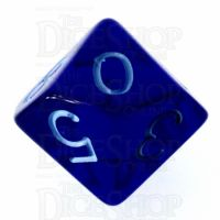 Role 4 Initiative Translucent Blue & Blue D10 Dice