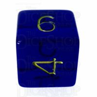 Role 4 Initiative Translucent Blue & Gold D6 Dice