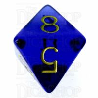 Role 4 Initiative Translucent Blue & Gold D8 Dice