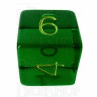 Role 4 Initiative Translucent Green & Gold D6 Dice