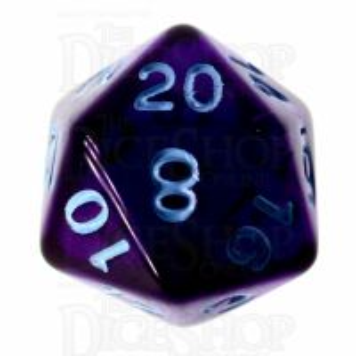 Role 4 Initiative Translucent Purple & Blue D20 Dice