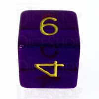 Role 4 Initiative Translucent Purple & Gold D6 Dice