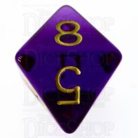 Role 4 Initiative Translucent Purple & Gold D8 Dice