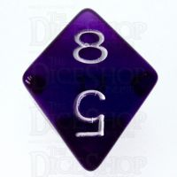 Role 4 Initiative Translucent Purple & White D8 Dice