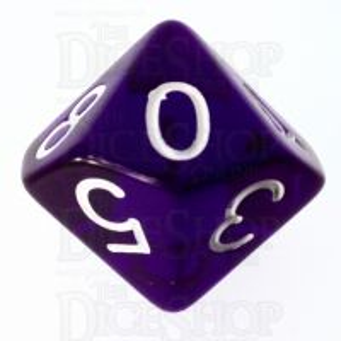 Role 4 Initiative Translucent Purple & White D10 Dice