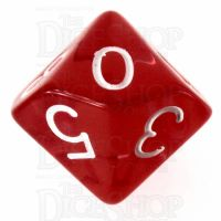 Role 4 Initiative Translucent Red & White D10 Dice