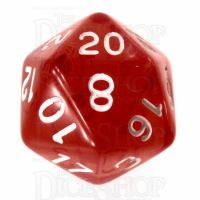Role 4 Initiative Translucent Red & White D20 Dice