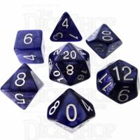 Role 4 Initiative Marble Purple & White 7 Dice Polyset