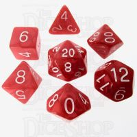 Role 4 Initiative Marble Red & White 7 Dice Polyset