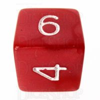 Role 4 Initiative Marble Red & White D6 Dice