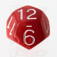 Role 4 Initiative Marble Red & White D12 Dice