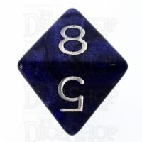 Role 4 Initiative Marble Purple & White D8 Dice