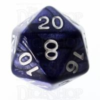 Role 4 Initiative Marble Purple & White D20 Dice