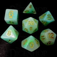 TDSO Opalescence Blue & Green 7 Dice Polyset