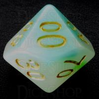 TDSO Opalescence Blue & Green Percentile Dice