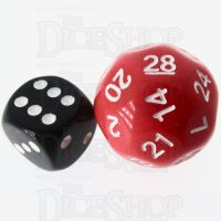 Impact Opaque Red & Black D28 Dice
