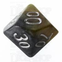 Halfsies Pearl DaVinci Black & Gold Mona Lisa Inspired Percentile Dice