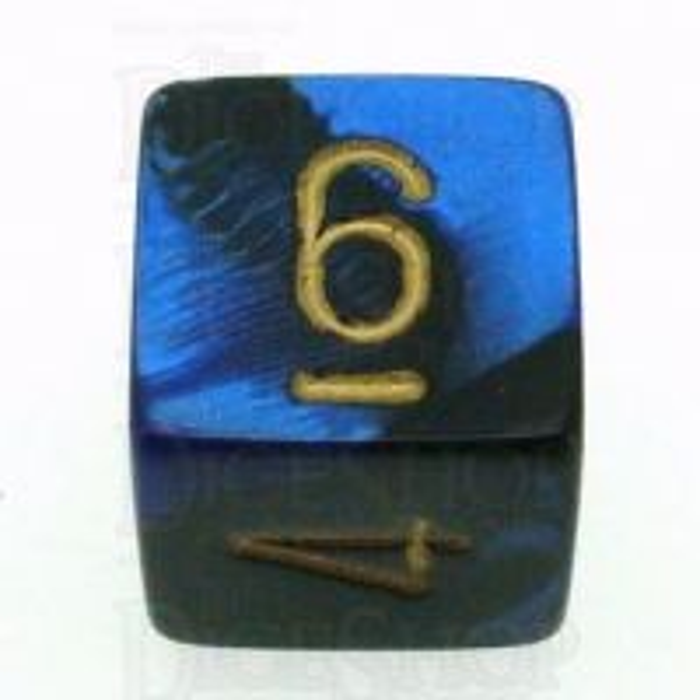 Chessex Gemini Black & Blue D6 Dice