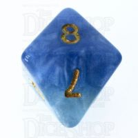 HHalfsies Pearl Sky Current Wind & Sky Blue D8 Dice